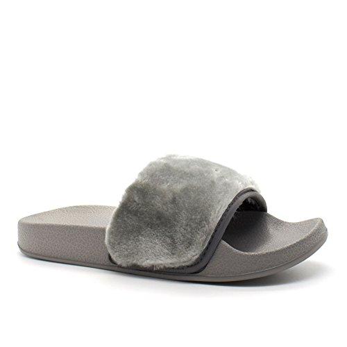 Ouvertes à l'arrière Footwear Gris Femme London p5qSU6n0q