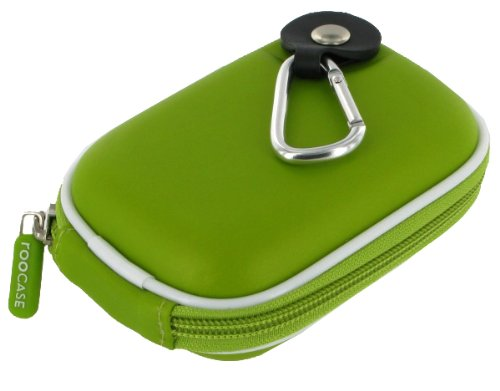 rooCASE EVA Hard Shell (Green) Carrying Case with Memory Foam for Canon PowerShot Digital Camera A810 A1300 A2300 A2400 IS A3400 IS A4000