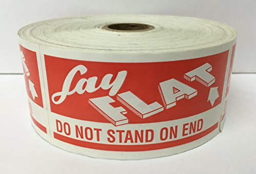 (1 Roll LARGE 2x4 LAY FLAT / DO NOT STAND ON END Handle with Care Special Handling Shipping Pallet Stickers 500 labels per roll)