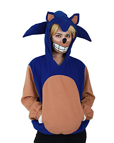 Miccostumes Women's anime game sonic the hedgehog cosplay hoodie costume (Sonic Costumes For Adults)