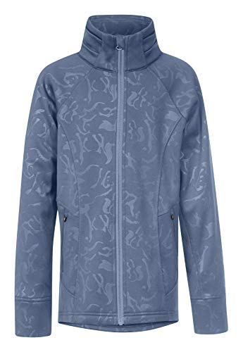 Kerrits Kids Flex Fleece Jacket Denim Embossed Horse Size: Small