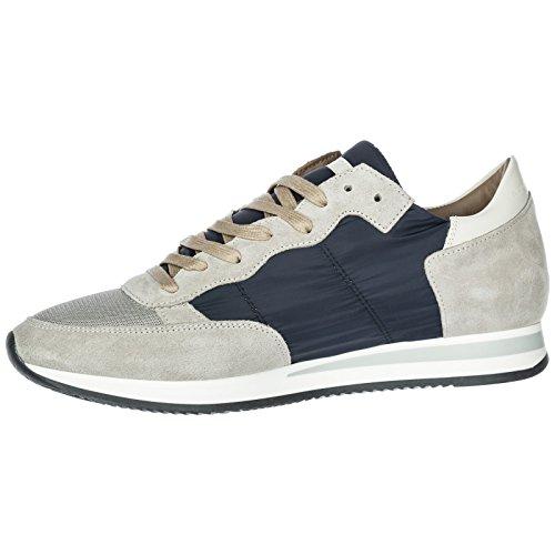 Baskets Model Tropez Gris en Homme Philippe Chaussures Sneakers Daim UE1zzTqP