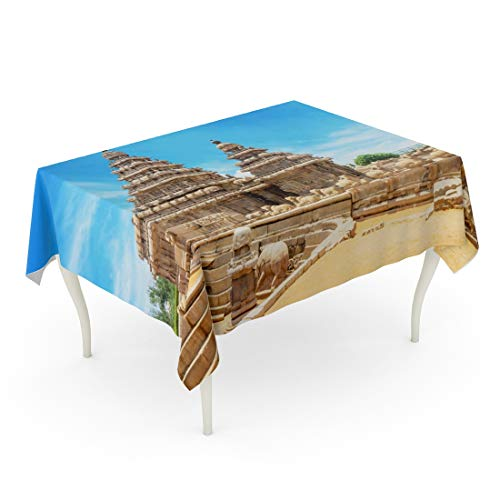 - Emvency Rectangle Tablecloth 60 x 102 Inch Mamallapuram Shore Temple Popular Tourist Destination and UNESCO World Heritage at Mahabalipuram Tamil Nadu India Indian Table Cloth