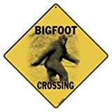 "12"" Square All Metal Bigfoot Crossing Sign"