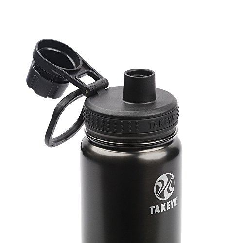 Takeya Actives Insulated Stainless Water Bottle with Insulated Spout Lid, 18oz, Slate