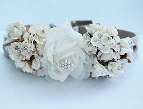White Flower Dog Collars, Pets Floral wedding,