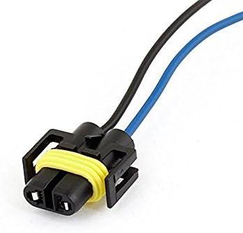 SODIAL R Spina di connettore in plastica per cablaggi a farfalla H11 a 2 fili auto