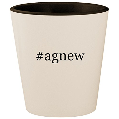 - #agnew - Hashtag White Outer & Black Inner Ceramic 1.5oz Shot Glass