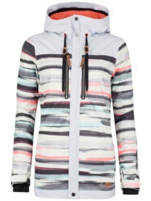 O'Neill Damen Skijacke PW Stencil Jacket, White Aop/Pink Or Purple, XS, 555016