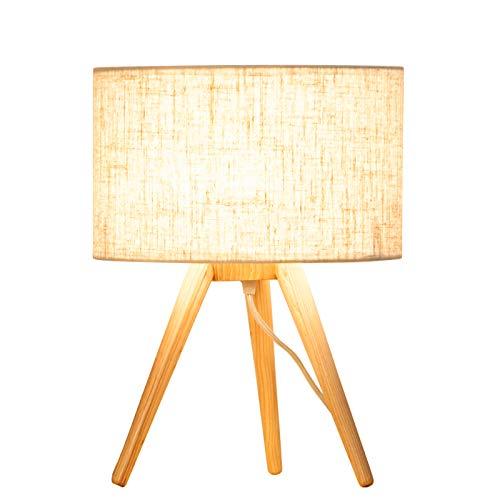 Nordic Ikea Table Lamp Solid Wood Simple Creative Bedroom Head ...