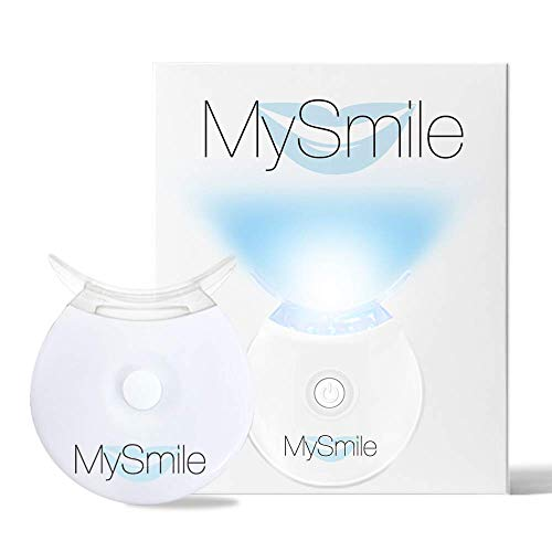 MySmile Teeth Whitening Accelerator Light - Faster Whiten Treatment to 10 Mins - Smart Timer Integrated - Long Lasting Batteries - 5 LED