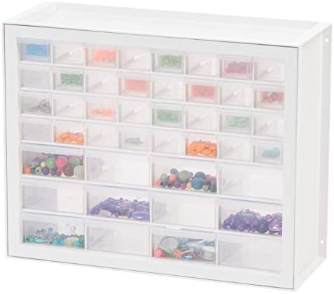 IRIS USA, Inc DPC-44 44 Drawer Sewing And Craft Parts Cabinet, 19.5 Inch By 15.5 Inch By 7 Inch, White