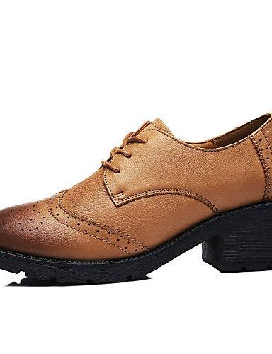 NJX/ Damenschuhe - High Heels - Outddor / Lässig / Sportlich - Leder - Niedriger Absatz - Komfort - Schwarz / Blau blue-us6.5-7 / eu37 / uk4.5-5 / cn37