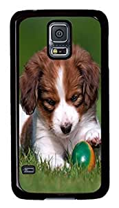 Brian114 Samsung Galaxy S5 Case, S5 Case - Galaxy S5 Snap on Cases Cup Puppy Hard PC Back Covers for Samsung Galaxy S5 Black