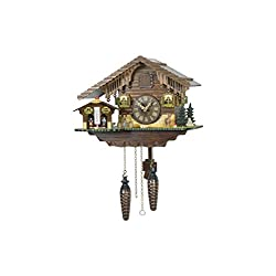 Trenkle Quartz Cuckoo Clock Swiss house with weather house TU 415 Q