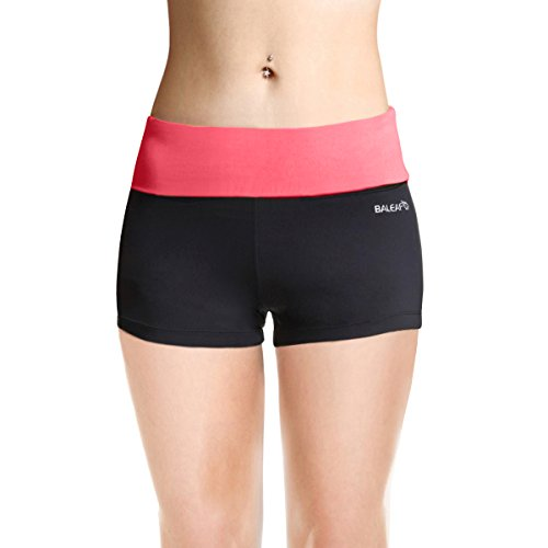 Baleaf Women's Workout Yoga Running Boy Cut Foldover Shorts Inner Pocket Dubarry Size - Womens Triathlon Outfit
