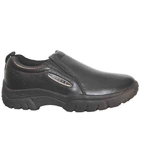 nce Smooth Leather Slip-On Shoes Round Toe Black 14 D(M) US (Smooth Mens Roper)