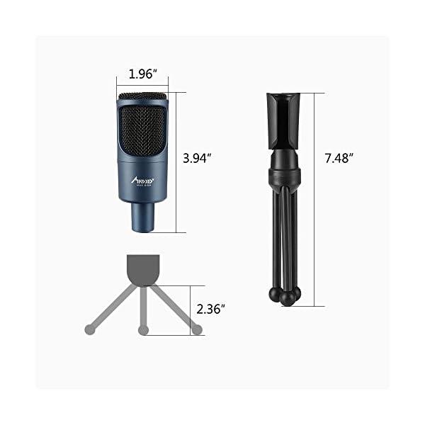 Microfono Usb, MAD GIGA Microfono a Condensatore Con Supporto Pieghevole, Microfono a Condensatore USB Omnidirezionale… 5 spesavip