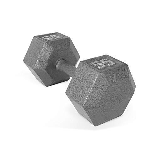 CAP Barbell Solid Hex Dumbbell, Single (55-Pound)