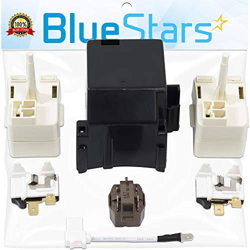 Ultra Durable 8201786 Compressor Relay Start Device Kit Replacement by Blue Stars – Exact Fit For Whirlpool & Kenmore Refrigerators – Replaces 2212194 2188829 2188830 2220475 AP3885081 2216697 ()
