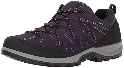 ECCO Women's Yura Low Gore-Tex Hiking Shoe, Black/Night Shade, 41 EU / 10-10.5 US