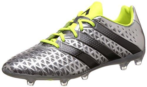 導入する配分控えめなMens adidas Firm Ground Football Boots Ace 16.2 FG Soccer Cleats-Silver-29.5