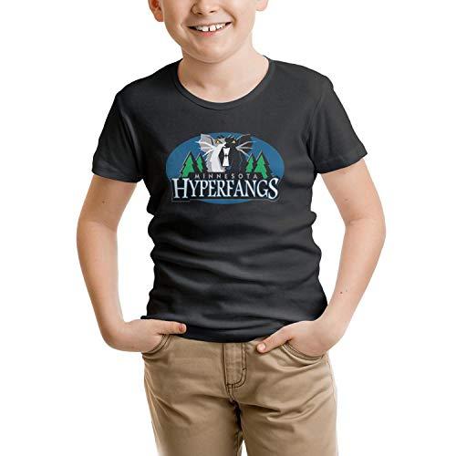 - Luwei Minnesota hyperfangs Basketball Team Logo Unisex Boys and Girls Fashion Comfortable Soft T Shirt