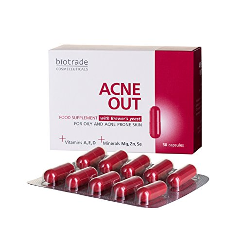 Acne Out Acne Pills, Food Supplement, Fighting Spots and Blemishes, for...
