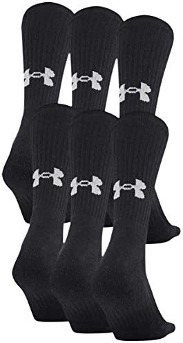 Under Armour Adult Cotton Crew Socks, 6-pairs