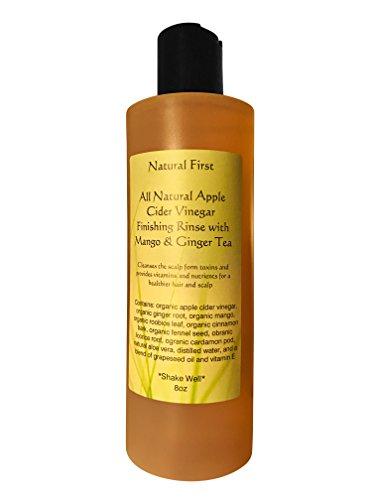 Apple Cider Vinegar Hair (Natural First Organic Apple Cider Vinegar Finishing Vitamin and Nutrient Rinse w/Mango and Ginger Tea)