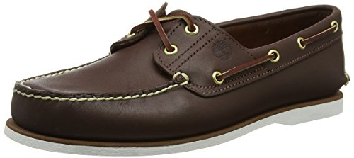 Classic 6 Eye Boot - Timberland Men's Classic 2-Eye Boat Shoe Rubber Boat shoe,Dark Brown,8 W US