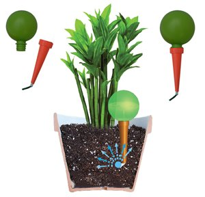 plantpal pack of 2 large self watering globes plant watering stakes automatic. Black Bedroom Furniture Sets. Home Design Ideas