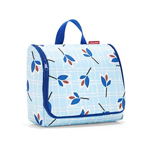Reisenthel Toiletbag XL Tie Case, 59 cm, 4 L, Blue Leaves