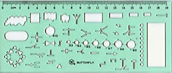 Amazon.com: Drafting Templates Drafting Tool Electrical Template