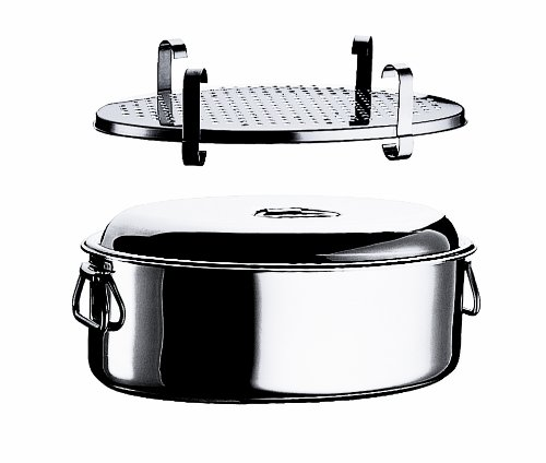 Mepra Oval Casserole with Lid and Grill, 40cm