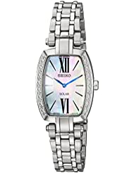 Seiko Womens TRESSIA Quartz Stainless Steel Casual Watch, Color:Silver-Toned (Model: SUP283)