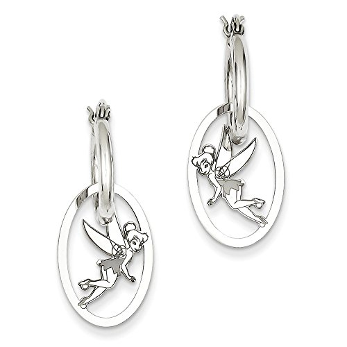 Roy Rose Jewelry Roy Rose Jewelry Sterling Silver Tinker Bell Hoop Earrings Trademark and Licensed