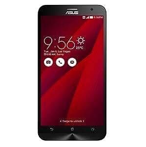 """Asus Zenfone 2 - ZE551ML - Smartphone libre Android (pantalla 5.5"""" Full-HD, cámara 13 Mp, memoria interna de 32 GB, Intel Atom Z3580 Quad Core 2.3 GHz, 4 GB de RAM, dual SIM) color rojo"""