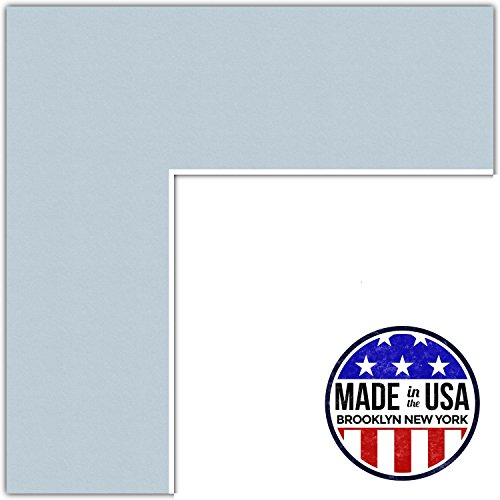 Custom Fountains - 10x12 Fountain Blue / Baby Blue Custom Mat for Picture Frame with 6x8 opening size (Mat Only, Frame NOT Included)