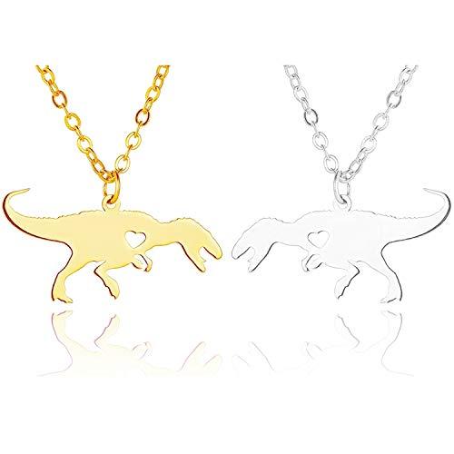 - JANE STONE Dinosaur Vintage Necklace Short Collar Fashion Costume Jewelry for Women Teens (Tyrannosaurus Set)