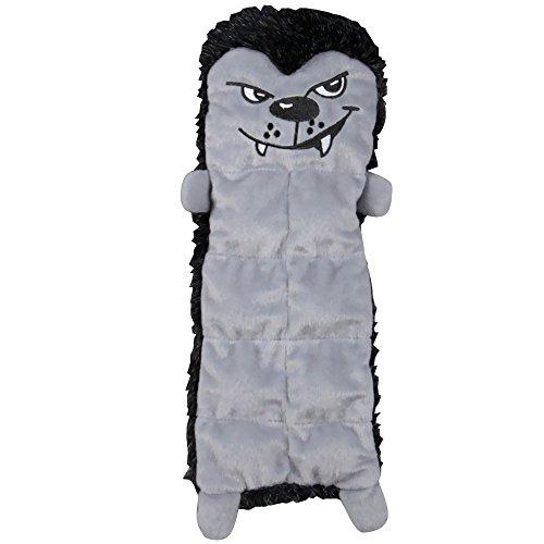 Outward Hound Kyjen  2558 Squeaker Mat Halloween Wolf 8 Squeaker Plush Squeak Toy Dog Toys, Medium, Grey