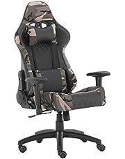 Futurefurniture® Gamingstoel, gaming stoel, gaming stoel, met hoofdsteun en lendenkussen, kleur: camouflage