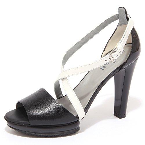 1423Q sandalo HOGAN nero/bianco scarpa donna sandal woman nero/bianco