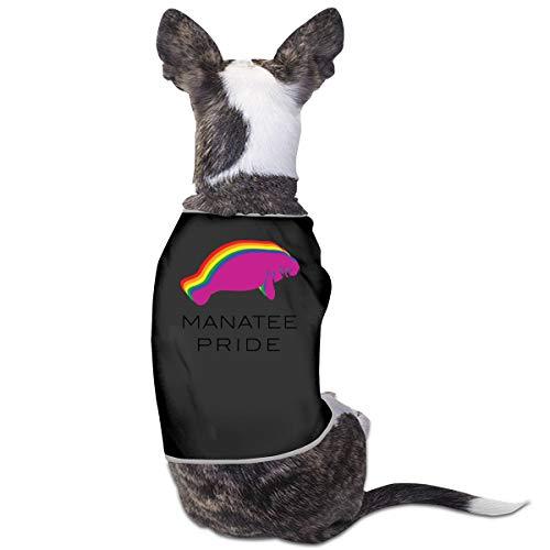 Nicokee Puppy Dogs Shirts Costume Manatee Pride Pets Clothing Warm Vest T-Shirt M -