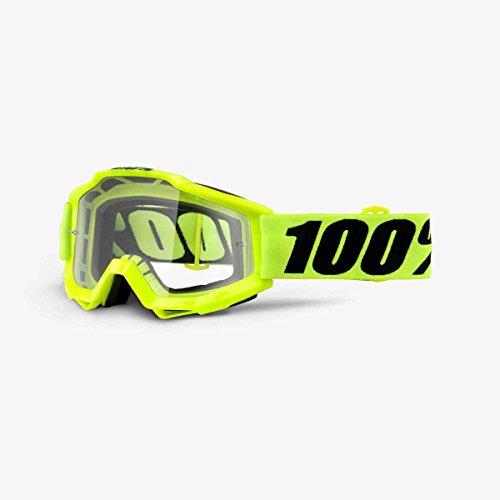 Masque Vtt 100% Accuri Otg Fluo Yellow - Ecran Clair Jaune