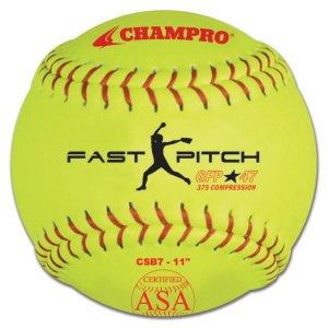 "Champro ASA Durahide 12"" Fastpitch 1 Dozen Gameballs .47 Cor"