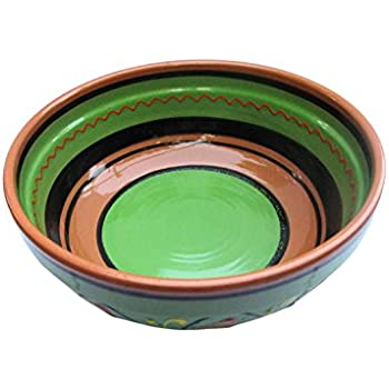 Terracotta Green, Deep Dish - Hand Painted From Spain