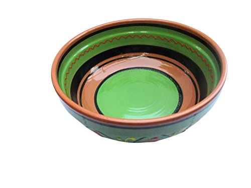 Terracotta Green, Deep Dish - Hand Painted From Spain by Cactus Canyon Ceramics