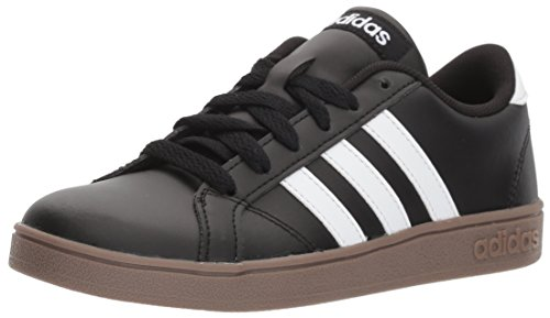 White Black Gum - adidas Unisex-Kids Baseline Sneaker, Black/White/Gum, 5 M US Big Kid