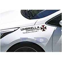 40cm*10cm Set 2 Resident Evil Stickers Umbrella Corporation Car Rear Window Decal